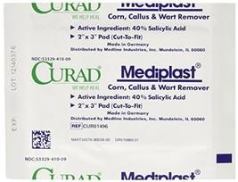 Curad Mediplast Corn, Callus & Wart Remover, 2 pads image 1
