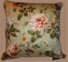 "New Ralph Lauren Throw Pillow YORKSHIRE ROSE cording 18"" Down Insert zip... - $79.99"