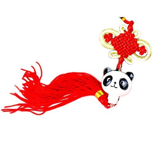 Creative Decoration Chinese Knot Tassel Panda Shaped Hang Decor for Car, E