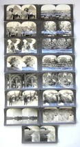 LOT antique 15pc STEREOVIEW CARDS keystone SERIES T yellowstone,india,ca... - $84.95