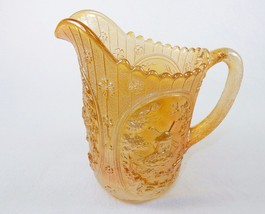 Vintage Glass Water Pitcher ~ Marigold, Windmill Pattern, Imperial Glass... - $88.15