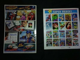 Marvel Comics Super Heroes 41¢ Stamps Sheet Usps Chapter Two With Contest Advert - $42.74