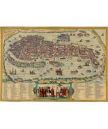 "Pictorial 1565 Map Venice Venetia Venezia Italy 11""x16"" Wall Art Poster ... - $12.38"