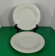 Hutschenreuther BIANCA WHITE Scala Dinner Plate (s) LOT OF 2 Glossy Germany - $59.35