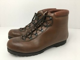 Vintage Hiking Boots Vibram Lug Sole Leather Upper W's 10 Old School Sty... - $62.36
