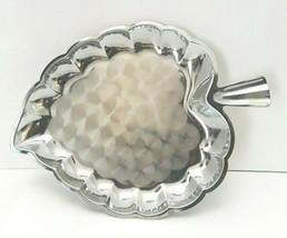 """Vintage Leaf Pattern Metal  Tray Dish 11"""" X 8"""" Hong Kong - $12.19"""