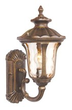 Livex Lighting 7650-50 Outdoor Wall Lantern with Hand Blown Light Amber Water Gl - $137.86