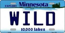 "NHL Minnesota Wild License Plate State Background Metal Tag  U.S.A."" - $9.85"