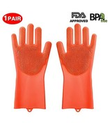 Silicone Gloves, XINYAN Magic Silicone Dishwashing Gloves with Scrubber ... - $11.50