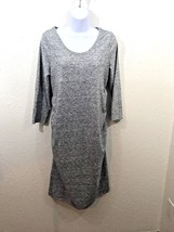 Liz Lange Maternity Dress Womens Size Medium Rouched Sides Gray Casual S... - $14.99