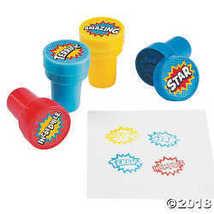 Plastic Superhero Stampers (2 Dz) by OTC - $8.99