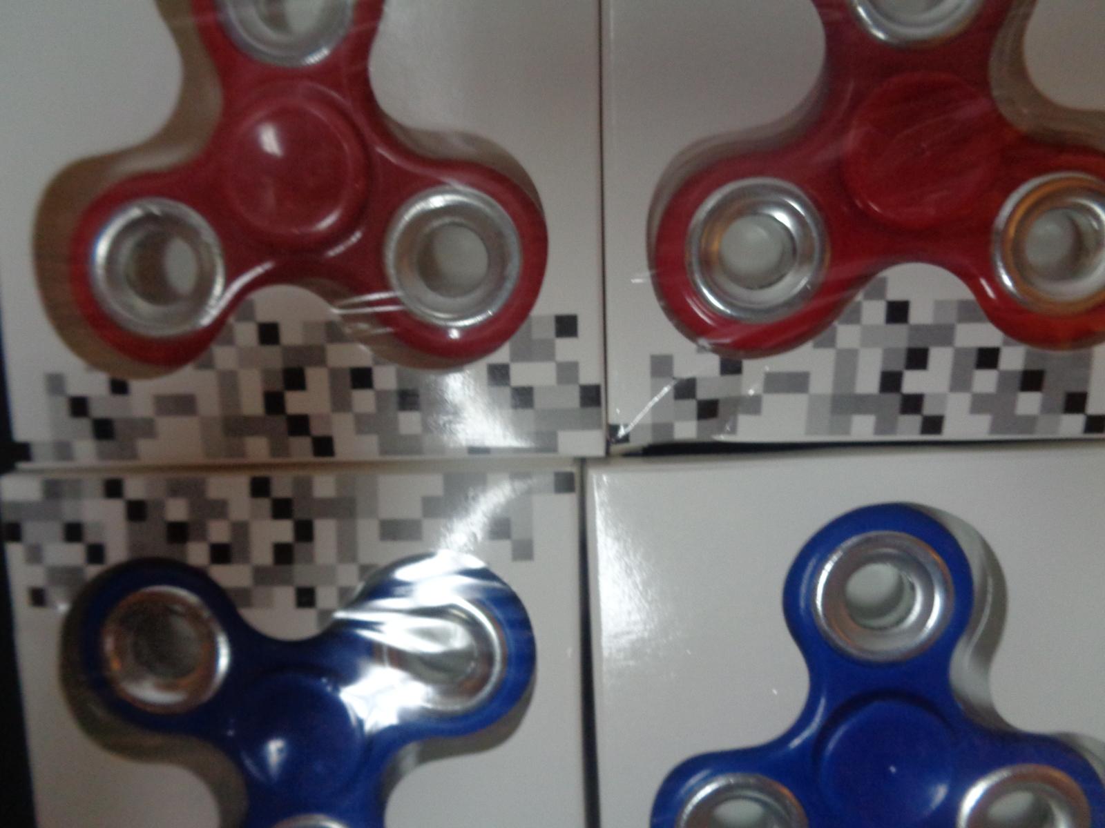 Fidget Spinners Lot of 5 Hand Finger Bar Pocket Desk Focus Toy Red White & Blue