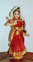 """Vintage Tall Indian Doll In Traditional Clothes, Kuchipudi Dancer 12"""" - $39.50"""