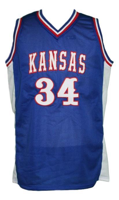 Paul pierce custom kansas college basketball jersey blue   1