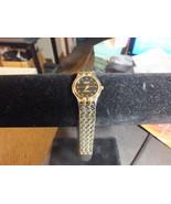 Geneva Classic Ladies Steel Analog Quartz Watch with 2 Toned Band - $15.50