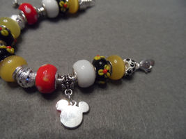 Authentic Pandora bracelet with Disney Mickey Mouse themed beads image 3