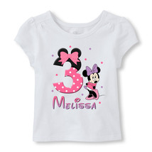 Minnie Mouse Birthday Iron On, Personalized Minnie Mouse Image Transfer - $3.00+