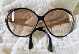 Vintage Christian Dior Black Gold Eyeglass Frames Germany Model 2319 90 130 - $85.45