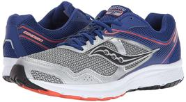 Saucony Men's Silver Blue Grid Cohesion 10 Running Runners Shoe Sneaker NIB image 7