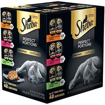 SHEBA PERFECT PORTIONS Wet Cat Food Cuts in Gravy Roasted Chicken, Gourm... - $14.89