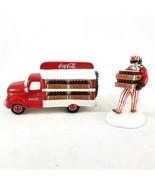 Dept 56 Snow Village Coca Cola Coke Delivery Truck And 1 Delivery Men 1994 - £17.91 GBP