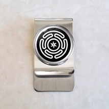 Hecate's Wheel Wicca Stainless Steel Money Clip - $20.00