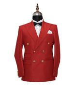 Men Red 2 Piece Suits Designer Elegant Dinner Party Wear Wedding Suits - $159.99
