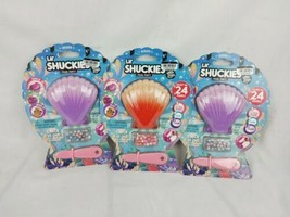 Lot of 3 Lil' Shuckies Pearl Party Series 1 Bead Bracelet Craft Various ... - $14.00
