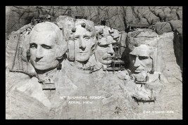 Aerial Mt Rushmore Construction Photo Postcard South Dakota Rise Studio SD PC - $14.99