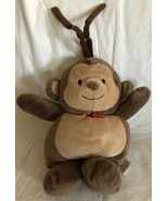 Carters Musical Monkey Plush Crib Toy Pull Down Brahms Lullaby Orange Bo... - $18.80