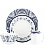 kate spade new york Charlotte Street Navy East 4-Piece Place Setting NEW - $69.99