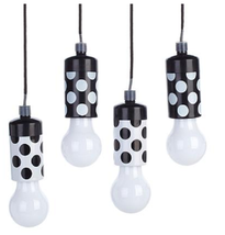 Improvements Set of 4 Fall Fiesta LED Hanging Pull Lights, Black & White - $21.77