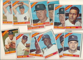 1966 Topps YANKEES  baseball cards. 18 pc lot. NICE condition ! - $6.95