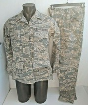 US AIR FORCE WOMAN'S Coat Jacket 10L & Pants 12 Short Utility Camouflage... - $45.80