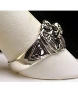 NICE Size 5 STERLING SILVER 32 degree masonic free mason RING Freemasonr... - $39.40