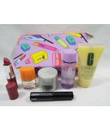 Clinique 7 Piece Set Mascara Remover Happy Love Pop Lip Smart Night Oil ... - $22.02