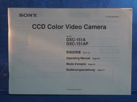 Sony Ccd Video Cámara Dxc 151A Instrucciones Manual Dq - $23.00
