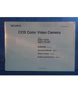 Sony Ccd Video Cámara Dxc 151A Instrucciones Manual Dq - $23.00
