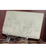 Antique Neoclassical Clay Bas Relief Greek Wall Frieze Sculpture 1850 -1890 - $782.09