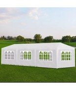 Foldable Party Tent Solid Color Water Resistant with(WHITE) - $213.26