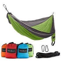 HŌMECO Double and Single Camping Hammock, Lightweight Nylon Parachute Tr... - $38.50