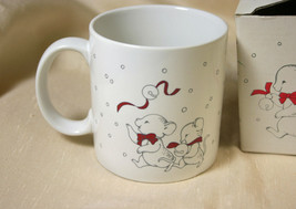 VTG New In Box APPLAUSE Animals On Parade Mice Jingle Bells Holiday Coffee Mug - $13.94