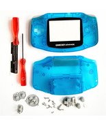GBA Nintendo Game Boy Advance Housing Shell GLASS Screen Glow in the Dark - $15.19