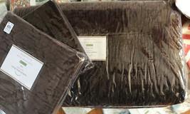 Pottery Barn Washed Velvet Quilt Set Napa Grape Queen 2 Standard Sham Purple - $314.00