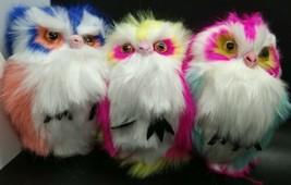 Set of 3 Fuzzy Owls Key Rings with Clip & Keychain   Brand New! Great Gift! - $9.99