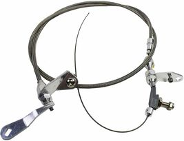 Ford C4 Stainless Steel Transmission Kick Down Cable Bronco Mustang Fairlane image 8