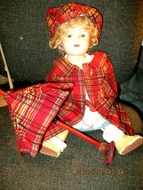 """1930's Tagged Molly-es for 18"""" Shirley Temple Checkered Raincoat, Hat, U... - $98.99"""