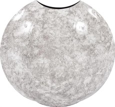 Vase Howard Elliott Disc Round Large White Gray Black Iron - $259.00