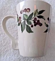 "2005 CALIFORNIA PANTRY Ivory w/ Purple Berries On Vine Tall 4.5"" Ceramic... - $7.37"