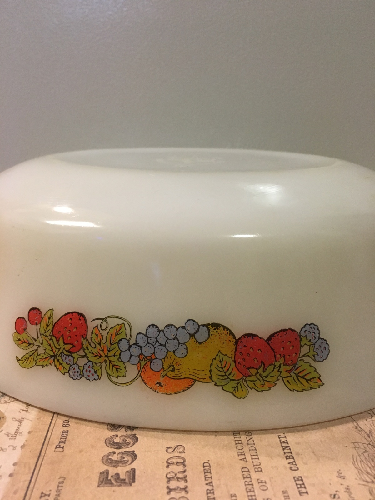 Vintage Anchor Hocking Fire King Natures Bounty Oval Casserole Dish